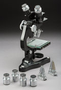 Other, An Ernst Leitz Wetzler Stereoscopic Microscope, 20th century. Marks: E.LEITZ, WETZLAR. 12-1/2 inches high (31.8 cm) (bas... (Total: 2 Items)