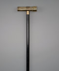 Decorative Arts, Continental:Other , A Brass and Ebonized Wood Kaleidoscope Walking Stick, early 20thcentury. 35-1/2 inches high (90.2 cm). PROPE...