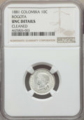 Colombia, Colombia: Republic 10 Centavos 1881 UNC Details (Cleaned) NGC,...