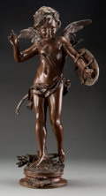 Sculpture, After August Moreau (French). Alerie. Bronze with brown patina. 22 inches (55.9 cm) high. Inscribed on base: Alerie / ...