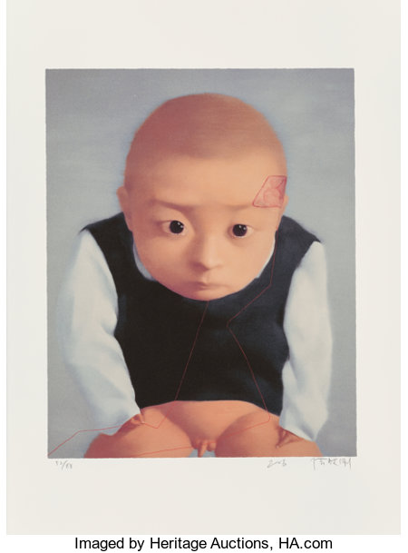 Zhang Xiaogang (b. 1958)Amnesia and Memory, 2004Twelve offset lithographs with screenprint in colors on Somerset pap...