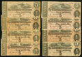 Confederate Notes:1864 Issues, T68/69 $10 & $5 1864 Twenty Examples.. ... (Total: 20 notes)