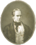 Political:3D & Other Display (pre-1896), Henry Clay: Central Portion of a Rare Lithophane Panel. ...