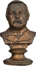 Political:3D & Other Display (pre-1896), Grover Cleveland: Most Unusual Bronze Finish Ink Well.. ...