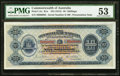 World Currency, Australia Commonwealth of Australia 10 Shillings ND (1913) Pick 1Ac R1a. Serial Number 86 Presentation Note.. ... (Total: 2 items)