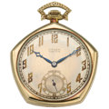 Estate Jewelry:Watches, Gruen Verithin Gold Pocket Watch. ...