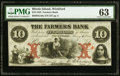 Obsoletes By State:Rhode Island, Wickford, RI- Farmers Bank $10 Aug. 6, 1855 G10a. ...