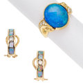 Estate Jewelry:Suites, Opal, Diamond, Gold Jewelry. ... (Total: 2 Items)