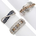 Estate Jewelry:Rings, Sapphire, Diamond, White Gold Rings The lot in...