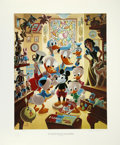 """Original Comic Art:Miscellaneous, Carl Barks - """"In Uncle Walt's Collectery"""" Regular EditionLithograph #4/345 (Another Rainbow, 1984)...."""
