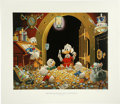 """Original Comic Art:Miscellaneous, Carl Barks - """"This Dollar Saved My Life at Whitehorse"""" RegularEdition Lithograph #4/345 (Another Rainbow, 1994). ..."""