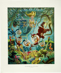 """Original Comic Art:Miscellaneous, Carl Barks - """"The Makings of a Fish Story"""" Regular EditionLithograph #4/345 (Another Rainbow, 1988)...."""