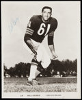Autographs:Photos, Bill George Chicago Bears Signed Team Issued Photograph.. ...