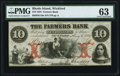 Obsoletes By State:Rhode Island, Wickford, RI- Farmers Bank $10 Aug. 6, 1855. ...