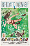 "Movie Posters:Adventure, Ghost Diver (20th Century Fox, 1957). Folded, Fine/Very Fine. One Sheet (27"" X 41""). Adventure.. ..."