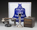 Other, An Early Ingram Richardson Enameled Telephone Sign with Two Phones and Switch Box, circa 1920. 18 inches high x 17 inches wi... (Total: 4 Items)