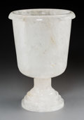 Decorative Arts, Continental, A Large Rock Crystal Urn, 20th century. 15 inches high x 10-1/4inches diameter (38.1 x 26.0 cm). PROPERTY FROM A DALLAS C...
