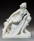 Decorative Arts, Continental:Other , A Carved Marble Figural Group After Johann Heinrich von Dannecker:Ariadne on the Panther. Ma...