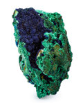 Minerals:Cabinet Specimens, Azurite & Malachite. Hubei Province. China. 5.04 x 2.91 x3.52 inches (12.80 x 7.40 x 8.95 cm). ...