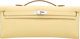 """Hermes Jaune Poussin Swift Leather Kelly Cut Clutch Bag with Palladium Hardware T, 2015 Condition:1 12"""" Width x 5&q..."""