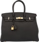 """Hermes 35cm Black Togo Leather Birkin Bag with Gold Hardware X, 2016 Condition: 1 14"""" Width x 10"""" Height x 7&q..."""