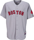 Baseball Collectibles:Uniforms, 2014 Jon Lester Game Worn Boston Red Sox Jersey Photo Matched to Opening Day & Used in Six Starts. . ...