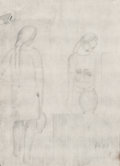 Fine Art - Work on Paper:Drawing, Salvador Dalí (1904-1989). Es doll and Mujer con Patotxo-femme au fagot (double-sided work), 1923. Pencil onpa... (Total: 2 Items)