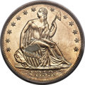 Proof Seated Half Dollars, 1853 50C Arrows and Rays PR65 PCGS Secure. CAC. WB-101.