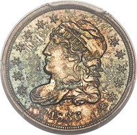 1836 H10C Small 5C, V-6, LM-5, R.2, MS67+ PCGS Secure. CAC....(PCGS# 38728)