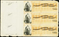 Obsoletes By State:Louisiana, New Orleans, LA- Assistant Treasurer of the United States New Orleans 186_ Uncut Sheets of Three Remainder Checks Three ... (Total: 3 items)
