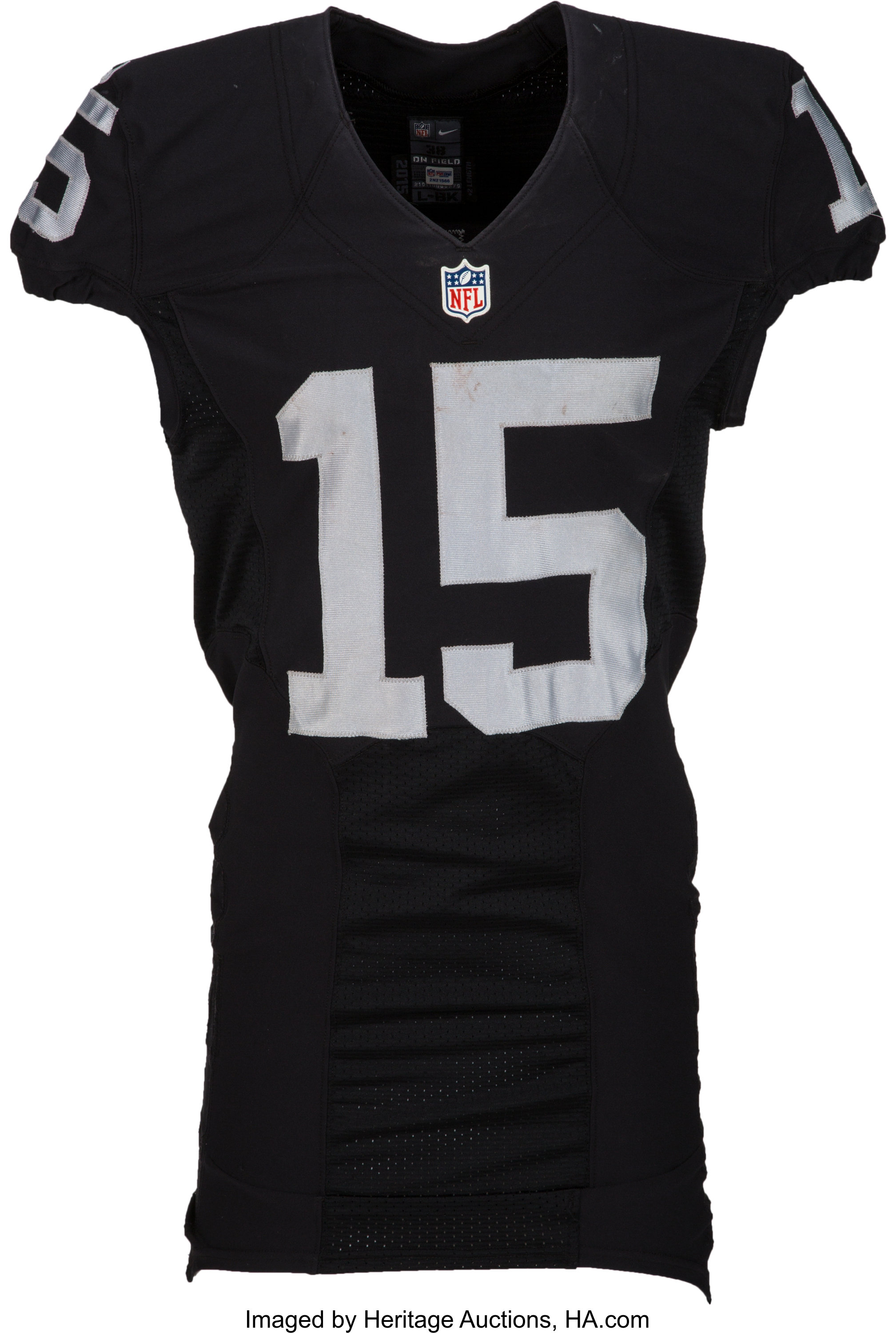 newest collection dcfdc 54b31 2015 Michael Crabtree Game Worn, Unwashed Oakland Raiders ...