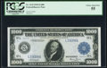 Large Size:Federal Reserve Bank Notes, Fr. 1133-L $1,000 1918 Federal Reserve Note PCGS Choice About New 55.. ...
