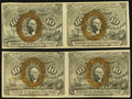 Fractional Currency, Fr. 1245 10¢ Second Issue Horizontal Uncut Pair About New;. Fr. 1246 10¢ Second Issue Horizontal Uncut Pair Very Fine-Extr... (Total: 2 notes)