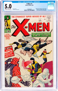 X-Men #1 (Marvel, 1963) CGC VG/FN 5.0 Off-white to white pages