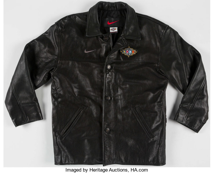 new style 5f2c5 29184 Super Bowl XXXII Leather Jacket. . ... Football Collectibles ...