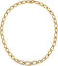 Estate Jewelry:Necklaces, Diamond, Gold Necklace, Van Cleef & Arpels, French. ...