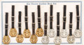 Political:3D & Other Display (1896-present), Cox & Roosevelt and Harding & Coolidge: An Original Store Display Card of Twelve Jugate Watch Fobs. ...