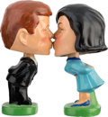 Political:3D & Other Display (1896-present), John & Jackie Kennedy: Classic Pair of Kissing Bobble-Head Dolls....