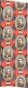 Political:Textile Display (pre-1896), Garfield & Arthur: Multi-Repeat Jugate Bunting....