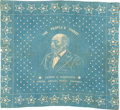 "Political:Textile Display (pre-1896), James A. Garfield: ""People's Choice"" Portrait Bandana...."