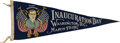 Political:Inaugural (1789-present), Woodrow Wilson: Colorful 1917 Inauguration Portrait Pennant....