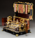 Decorative Arts, French:Other , A Napoleon III Boulle, Ebonized Wood, and Gilt Glass Cave àLiqueur, circa 1870. 11 h x 16-3/4 w x 12 d inches (27.9 x 42.5 ...