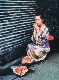 Nobuyoshi Araki (Japanese, b. 1940) Untitled from Colourscapes, 1991 Dye destruction moun