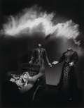 Photographs:Gelatin Silver, Jerry Uelsmann (American, b. 1934). Untitled (Mannequins andbaby carriage), 1985. Gelatin silver. 18-7/8 x 14-3/4 inche...