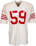 Football Collectibles:Uniforms, 1976-77 Willie Harper Game Worn San Francisco 49ers Jersey....