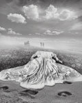 Photographs, Jerry Uelsmann (American, b. 1934). Untitled (Dress and beach), 1986. Gelatin silver. 19-1/4 x 15-1/2 inches (48.9 x 39....