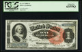 Large Size:Silver Certificates, Fr. 217 $1 1886 Silver Certificate PCGS Choice New 63PPQ.. ...