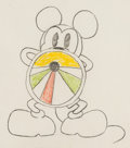 Animation Art:Production Drawing, Around the World in 80 Minutes Mickey Mouse AnimationDrawing (Walt Disney, 1931).. ...