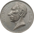 Political:Tokens & Medals, Henry Clay: High-Relief Medal by Leonard....