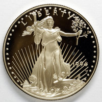 1994-W $50 One-Ounce Gold Eagle Deep Cameo Proof Uncertified. The box, case, and certificate of authenticity is included...